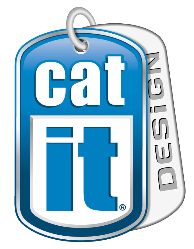 Logo cat it design, jardin des animaux