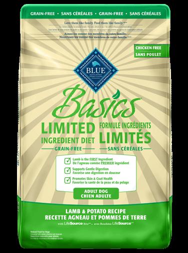 Blue Buffalo Basics Recette agneau pomme de terre - Le Jardin Des Animaux